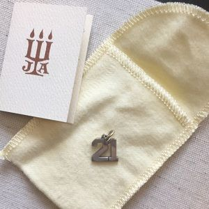 James Avery 21 Number Charm